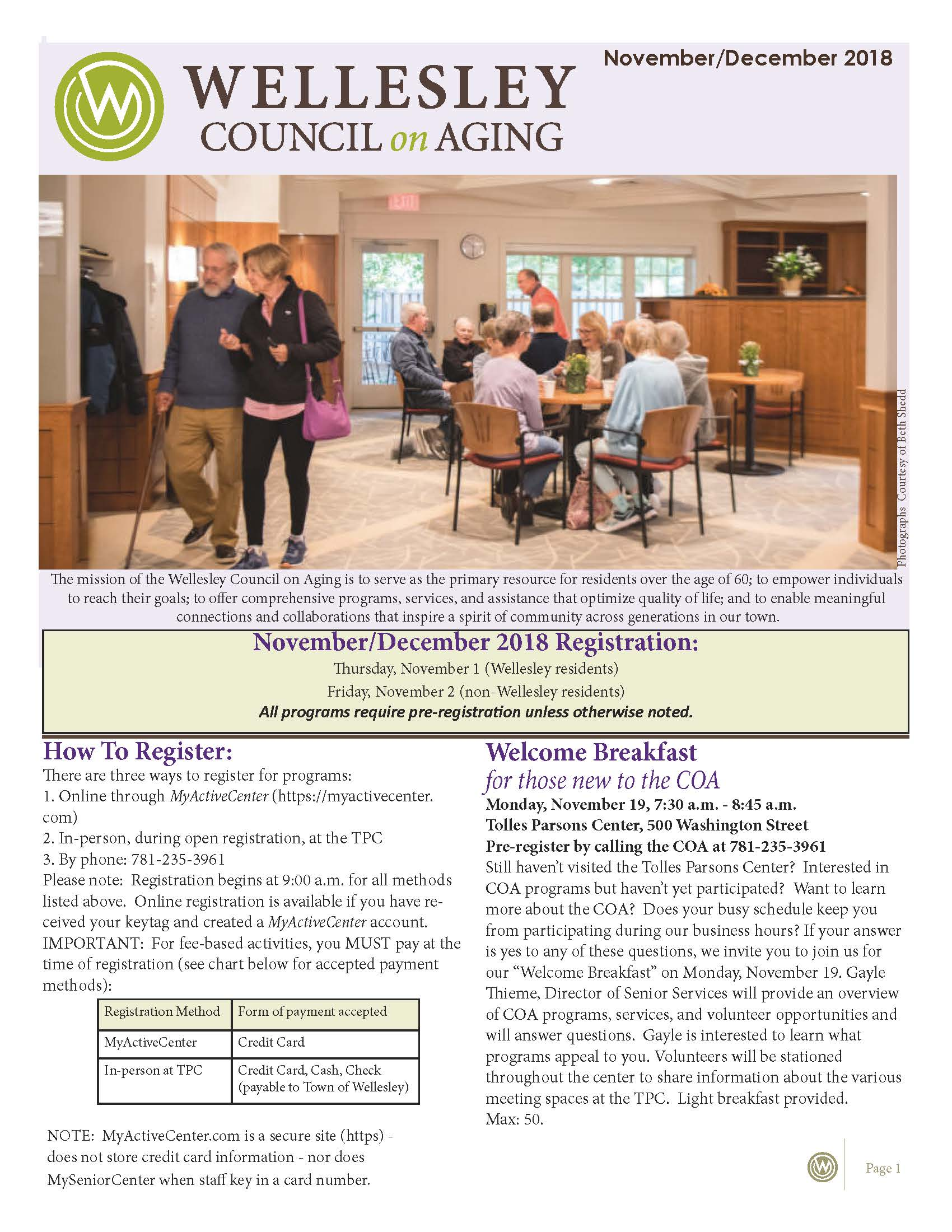 November December 2018 Newsletter Cover