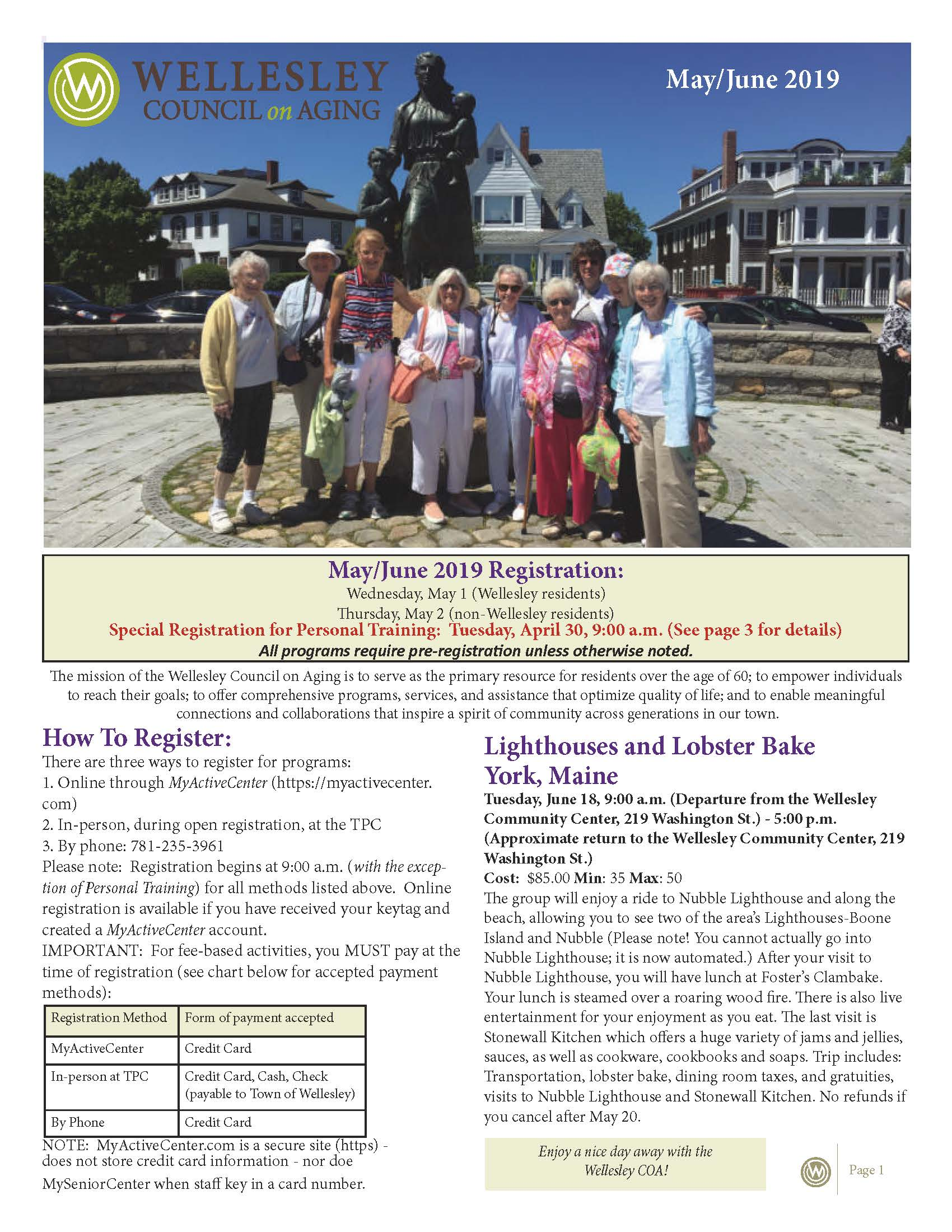 May June 2019 Newsletter Front Cover
