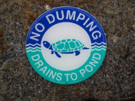 No Dumping Sticker