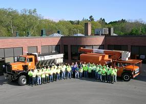 Highway Division Staff with Trucks