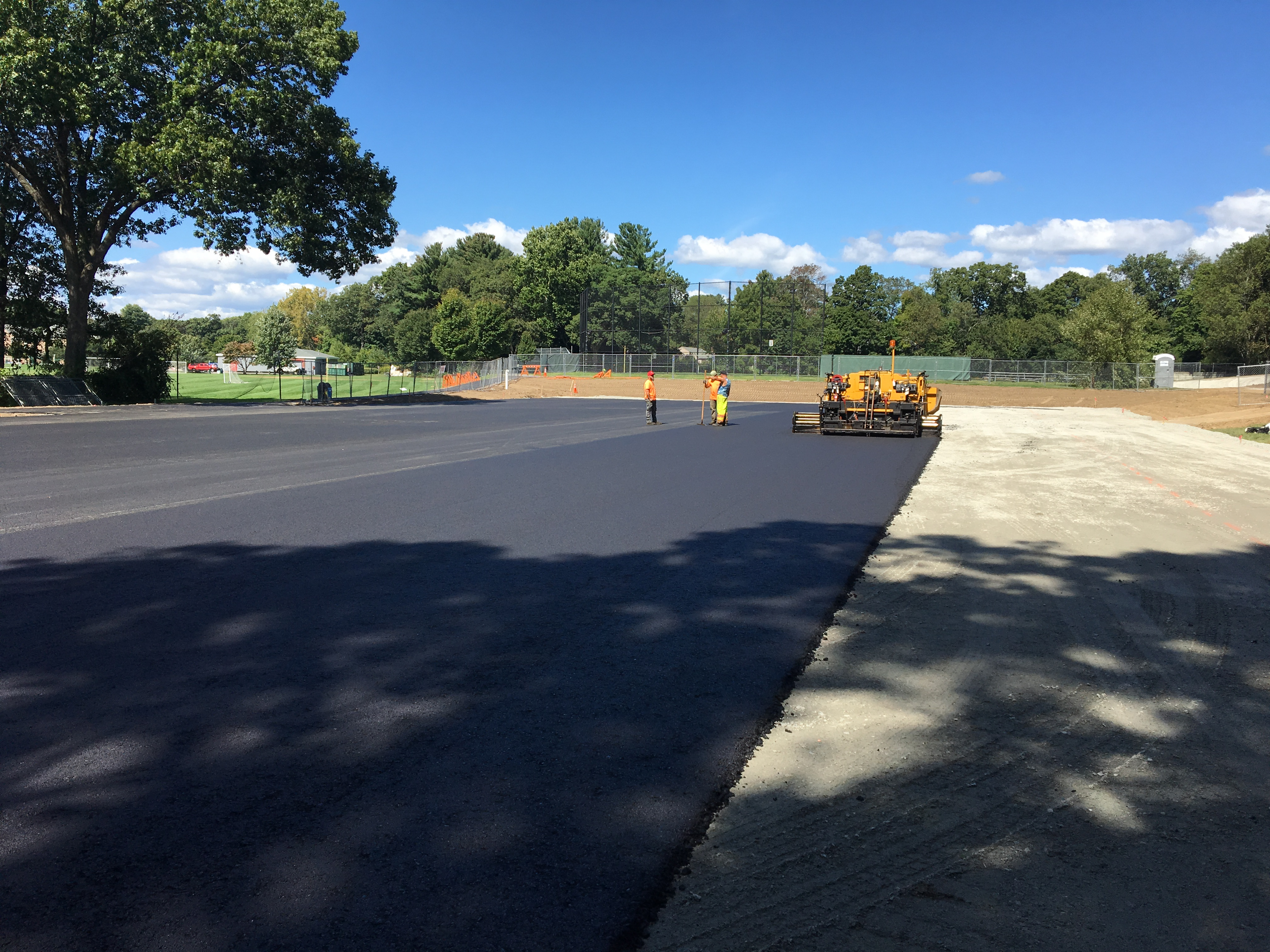 Figure 3 - New binder course pavement Opens in new window